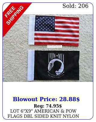 lot x american pow flags dbl sided knit nylon with sleeve motorcycle ca