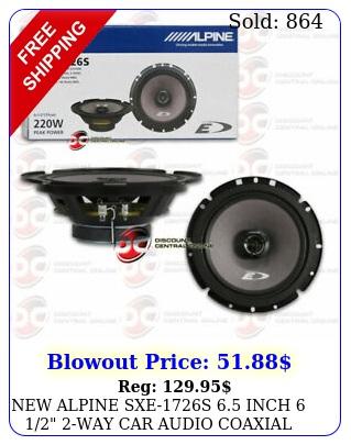 alpine sxes inch  way car audio coaxial speakers pair