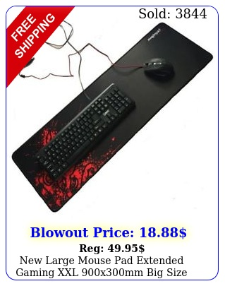 large mouse pad extended gaming xxl xmm big size desk mat black re