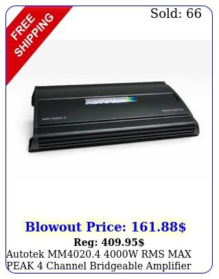 autotek mm w rms max peak channel bridgeable amplifier car audio am