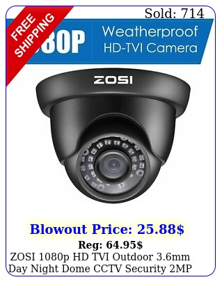 zosi p hd tvi outdoor mm day night dome cctv security mp camera syste