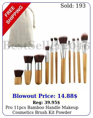 pro pcs bamboo handle makeup cosmetics brush kit powder cosmetic tool brushe