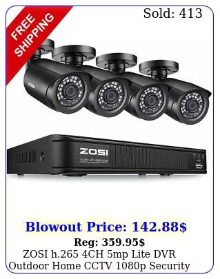 zosi h ch mp lite dvr outdoor home cctv p security camera syste