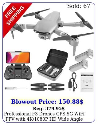 professional f drones gps g wifi fpv with kp hd wide angle camera folda