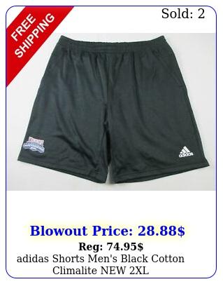 adidas shorts men's black cotton climalite x