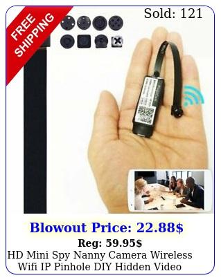 hd mini spy nanny camera wireless wifi ip pinhole diy hidden video dvr nvr ca