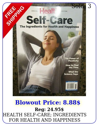 health selfcare ingredients health happiness  magazine