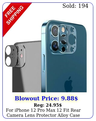 iphone pro max fit rear camera lens protector alloy case accessories