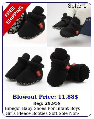 bibegoi baby shoes infant boys girls fleece booties soft sole nonslip cart