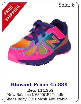 balance kvgri toddler shoes baby girls mesh adjustable athletic pink rar