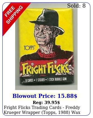 fright flicks trading cards freddy krueger wrapper topps wax pac