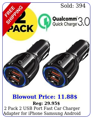 pack usb port fast car charger adapter iphone samsung android lg moto h