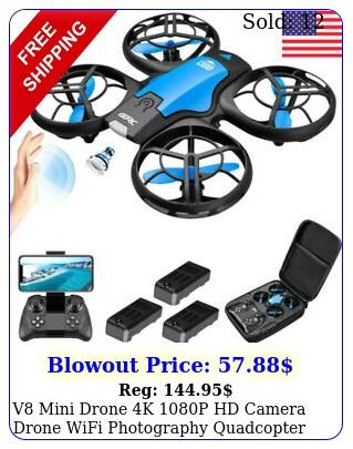 v mini drone k p hd camera drone wifi photography quadcopter rc to