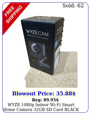 wyze p indoor wifi smart home camera gb sd card black edtio