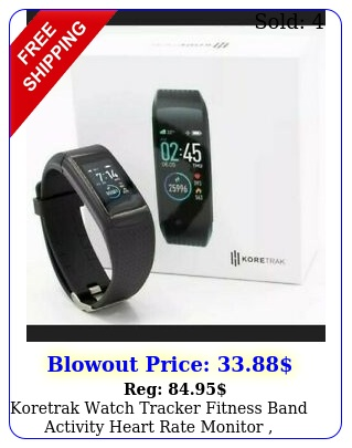koretrak watch tracker fitness band activity heart rate monitor waterproo