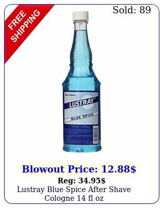 lustray blue spice after shave cologne fl o