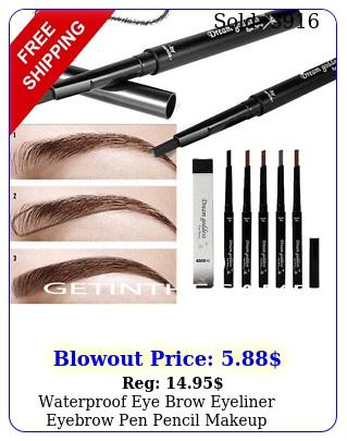 waterproof eye brow eyeliner eyebrow pen pencil makeup cosmetic too