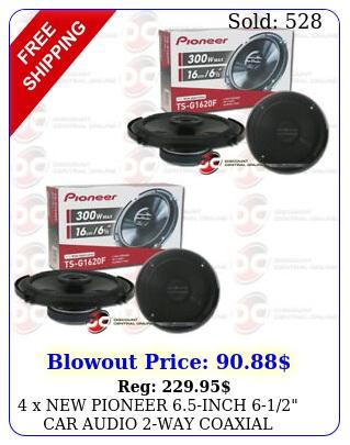 x pioneer inch car audio way coaxial speakers w ma