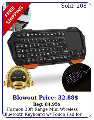fosmon ft range mini wireless bluetooth keyboard w touch pad android t