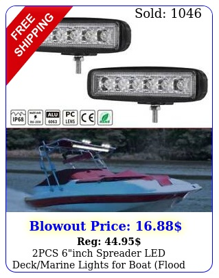 pcs inch spreader led deckmarine lights boat flood light v w blac