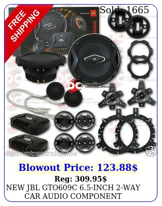 jbl gtoc inch way car audio component speakers system inche