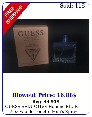 guess seductive homme blue oz eau de toilette men's spray cologne teste