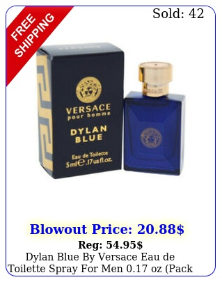 dylan blue by versace eau de toilette spray men oz pack o