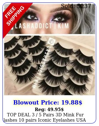 top deal  pairs d mink fur lashes pairs iconic eyelashes usa selle