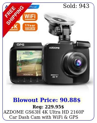 azdome gsh k ultra hd p car dash cam with wifi gps night vision car dv