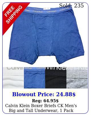 calvin klein boxer briefs ck men's big tall underwear pac