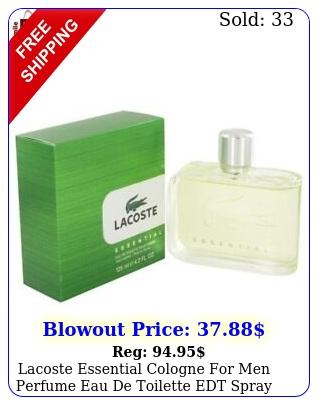 lacoste essential cologne men perfume eau de toilette edt spray fragranc
