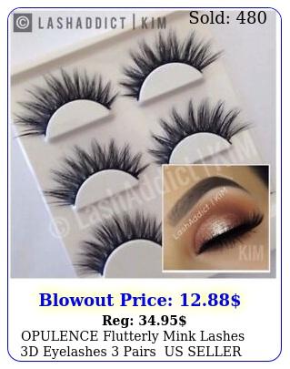 opulence flutterly mink lashes d eyelashes pairs us seller makeup fu