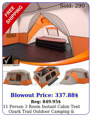 person room instant cabin tent ozark trail outdoor camping private roo