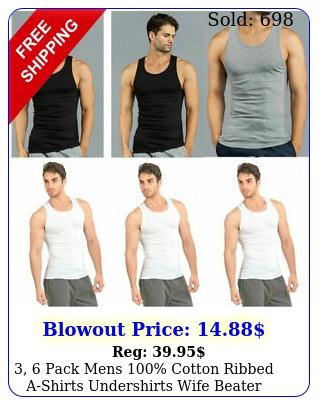 pack mens cotton ribbed ashirts undershirts wife beater tank top