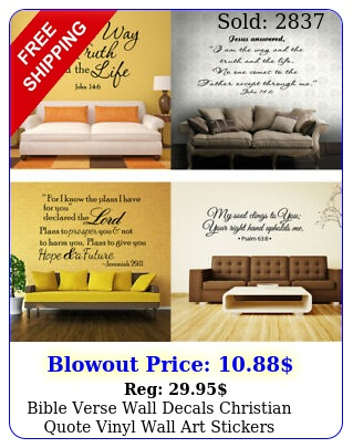 bible verse wall decals christian quote vinyl wall art stickers scripture deco