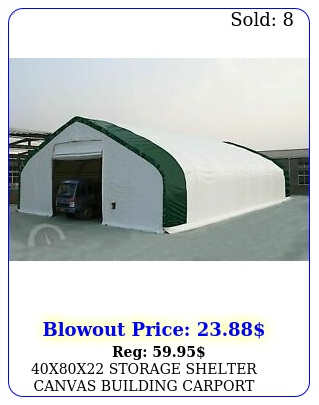 xx storage shelter canvas building carport double truss fabric year pv