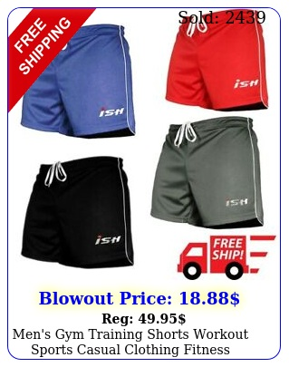 men's gym training shorts workout sports casual clothing fitness running shor