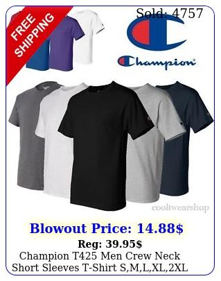 champion t men crew neck short sleeves tshirt smlxlx