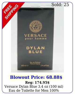 versace dylan blue oz ml eau de toilette men authentic seale