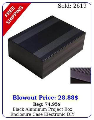black aluminum project enclosure case electronic diy xxmmbi