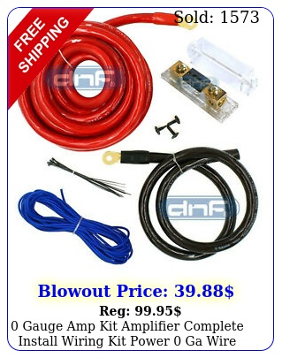 gauge amp kit amplifier complete install wiring kit power ga wire