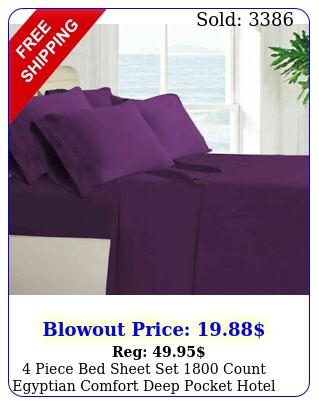 piece bed sheet set count egyptian comfort deep pocket hotel bed sheet