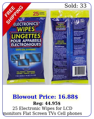 electronic wipes lcd monitors flat screen tvs cell phones ipad free s