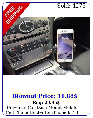 universal car dash mount mobile cell phone holder iphone  plus x pr