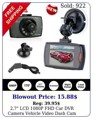 lcd p fhd car dvr camera vehicle video dash cam recorder night visio