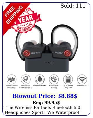 true wireless earbuds bluetooth headphones sport tws waterproof mic chargin