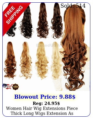 women hair wig extensions piece thick long wigs extension as human hairpiec