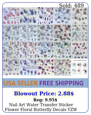 nail art water transfer sticker flower floral butterfly decals yzw usa selle