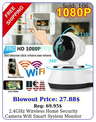 ghz wireless home security camera wifi smart system monitor ir night visio