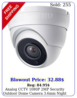 analog cctv p mp security outdoor dome camera mm night owl compatibl